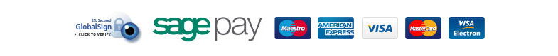 SSL Secured Global Sign. Payments taken through SagePay