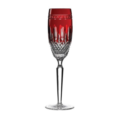 Waterford Clarendon Ruby Red Flute Champagnes - Set of 2