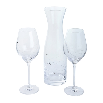 Dartington Glitz Carafe & Wine Glasses Gift Set