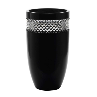 Waterford John Rocha Black Cut Vase