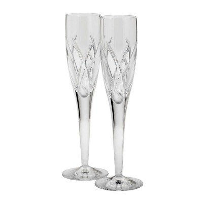 Waterford John Rocha Signature Flute Champagne Glasses  - Set of 2