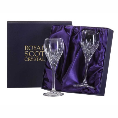 Royal Scot Highland Port or Sherry Glasses - Set of 2