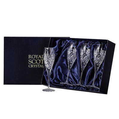 Royal Scot Edinburgh Champagne Flutes - Set of 4