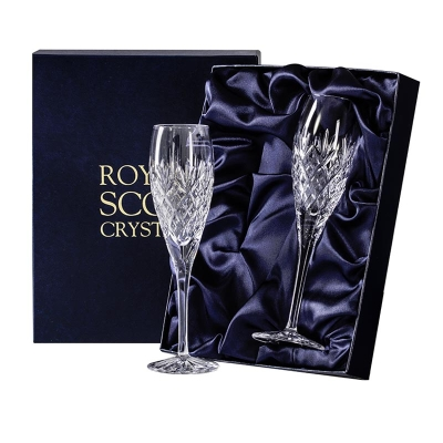 Royal Scot Edinburgh Champagne Flutes - Set of 2
