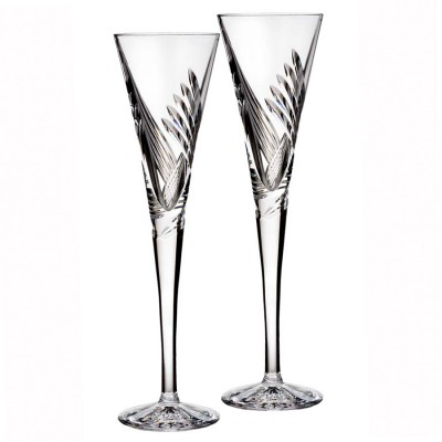 Waterford Celebration Beginnings Flute Champagne Glasses - Set of 2