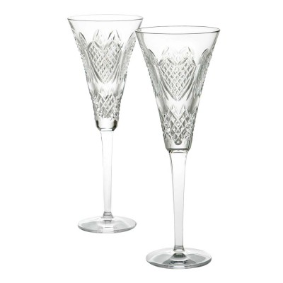 Waterford Celebration Wedding Flute Champagne Glasses - Set of 2