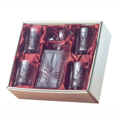 Galway Kells Square Decanter and 4 Tumblers Set