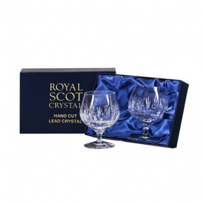 Royal Scot Sapphire Brandy Glasses - Set of 2