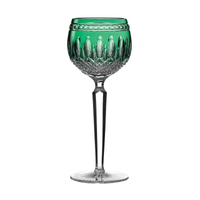 Waterford Clarendon Emerald Green Hock Glasses - Set of 2