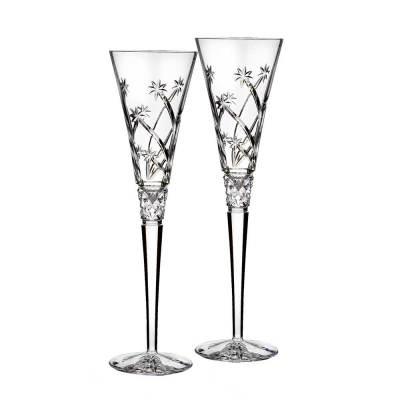 Waterford Celebration Believe Flute Champagne Glasses - Set of 2