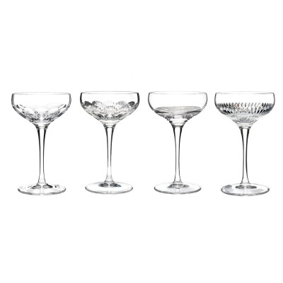 Waterford Mixology Clear Champagne Coupe Glasses  - Set of 4