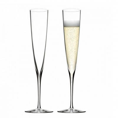 Waterford Elegance Trumpet Flute Champagne Glasses - Set of 2