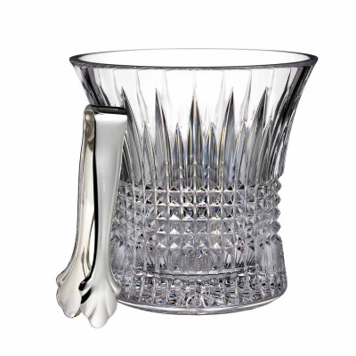 Waterford Lismore Diamond Ice Bucket with Tongs