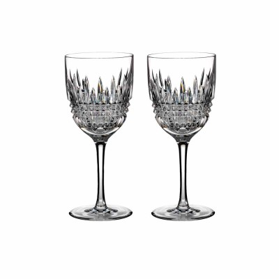Waterford Lismore Diamond Red Wine Glasses - Set of 2