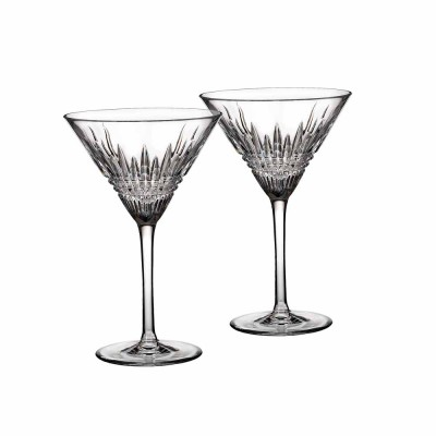 Waterford Lismore Diamond Martini Cocktail Glasses - Set of 2