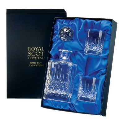 Royal Scot London Square Decanter and Whiskies Set