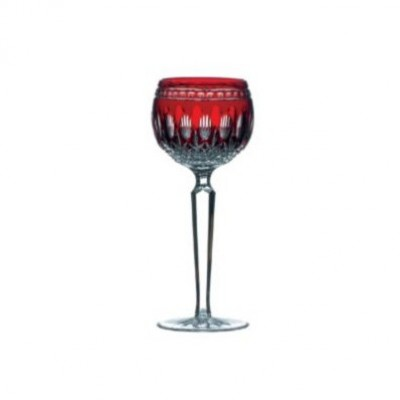 Waterford Clarendon Ruby Red Hock Glasses - Set of 2