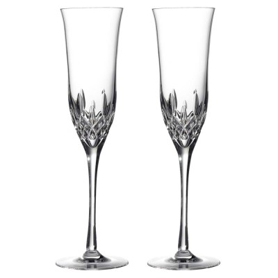 Waterford Lismore Essence Flute Champagne Glasses - Set of 2