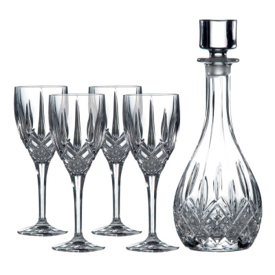 Royal Doulton Decanter Sets Round Decanter & Wine Glasses